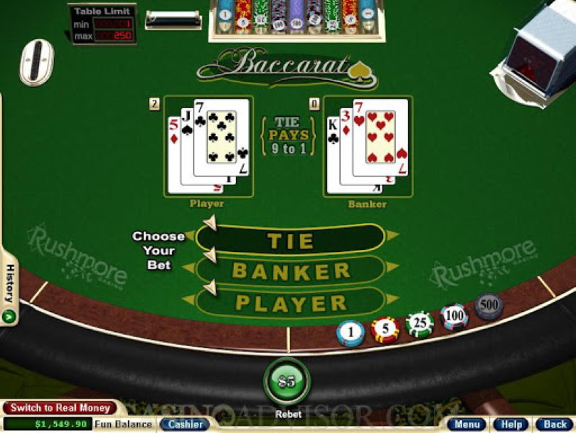 Baccarat Card Game Online